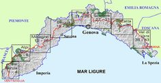 Trail Map - Ligurian Mountain link up trail Trail Maps, Turin, Hiking Trails, Italy Travel, Journey, Mtb, Milan, Future, Link
