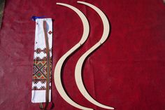 Buugeng S Staff Large Size ; juggling;Double Striped Edition;Carved out Stripes model,wood color! Paint yourself(easy to paint)!+ Free Bag!