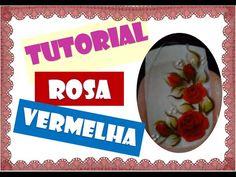 Como fazer adesivo de unha : Botões de Rosas vermelhas - YouTube