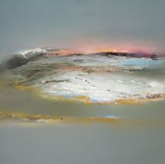 Early Blue - Oil on Board -  80 x 80 cm (100 x 100 cm framed). Elaine Jones.