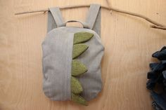 Dragon backpack , dragon bag , beige denim backpack , jeans kids toddler backpack , unisex todler backpack , denim bag , childrens backpack by SecondBirthday on Etsy