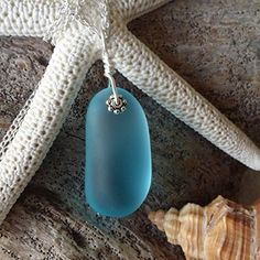 Handmade in Hawaii blue sea glass necklace sterling silver chaingift box Mothers Day gift  beach glass necklacesea glass jewelrybeach glass jewelryHawaiian jewelry >>> To view further for this item, visit the image link.Note:It is affiliate link to Amazon.
