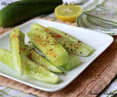 Sliced Cucumbers With Pepper And Cumin/ Cucumber Salad