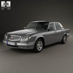 GAZ 31105 Volga 2005 3d model from humster3d.com. Price: $75