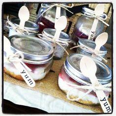 Cheesecake in jars