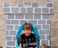 Castle photo booth... will make a bit larger, but kids of ALL ages will love this.