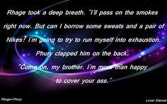 I'm going to try and run myself into exhaustion. Rhage and Phury, Eternal. Black Dagger Brotherhood Books, Brotherhood Series, The Brethren, Dark Side, I Movie, Badass, Acting, Tv, My Love