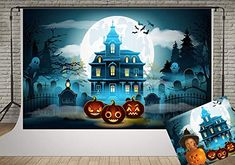 Kate Halloween Party Photography Backdrops Scary Old Castle Backgrounds Photo Graveyard and Pumpkin Backdrop for Photographer Halloween Decor Background Props Halloween Photography Backdrop, Halloween Backdrop, Photography Backdrops, Scary, It Cast, Batman, Superhero, Amazon, Painting