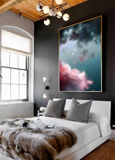 Extra Large Abstract Painting Print, Pastel Abstract Art Large, Abstract Artwork on Canvas, Large Cloud Painting, Extra Large Canvas Art - - House Design, Decor, Interior Design, Bedroom Decor, Apartment Decor, Home, Interior, Living Room Paint, Home Decor