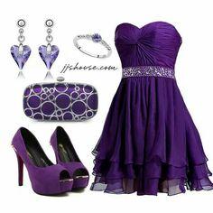 Cute short purple dress