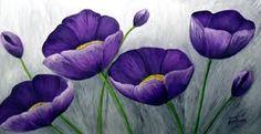 Resultado de imagen para oleos flores Adele Makeup, Beautiful Sketches, Purple Aesthetic, Flower Pictures, Heart Art, Woman Painting, Petunias, Flower Art, Poppies