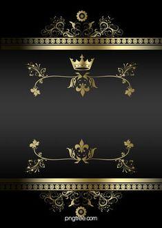 atmospheric black gold frame lines business background Gold And Black Background, Black Background Wallpaper, Banner Background Images, Poster Background Design, Invitation Background, Creative Background, Background Templates, Background Patterns, Frame Floral