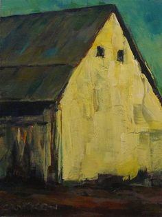 """SUNLIT BARN"" - Original Fine Art for Sale - © by Brian Cameron"