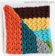 Crochet Blanket Using the Blanket Stitch. Includes Free Pattern and Pictures. This afghan would be great for a baby or a lap throw. Could easily be adjusted to make a wider or longer blanket! Super easy!