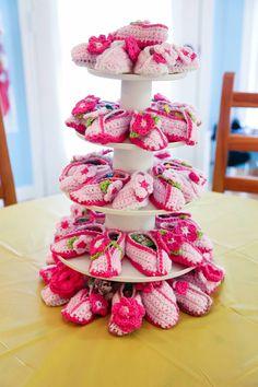 Kimono Baby Crochet Shoes