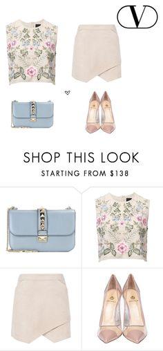"""1 bag 100 stylings - Valentino blue bag - 1/100"" by lillyrosalie on Polyvore featuring moda, Valentino, Needle & Thread, BCBGMAXAZRIA i Semilla"