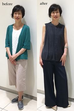 50代 ファッション かっこいいパンツスタイルを作るコツ | 服を変えれば、生き方が輝く!私がはじまるファッションコーデ Normcore, Suits, Lady, Womens Fashion, Clothes, Style, Woman, Outfit, Swag