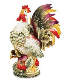 Vista Bella Rooster Figurine | Fitz and Floyd