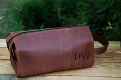 Leather Personalized Dopp Kit leather Mens Toiletry Bag by Sinevir Dopp Kit d27bbd49a9313