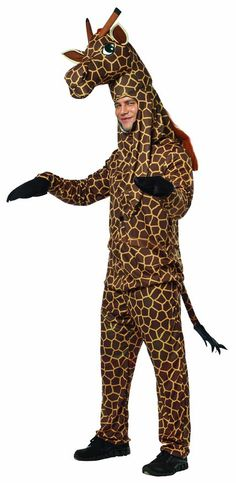 Rasta Imposta UHC Giraffe Outfit Funny Comical Theme Party Fancy Dress Halloween Costume OS ** Look into the image by checking out the link. (This is an affiliate link). Animal Costumes, Funny Halloween Costumes, Adult Costumes, Adult Halloween, Halloween Ideas, Halloween Party, Trendy Halloween, Holiday Costumes, Couple Halloween