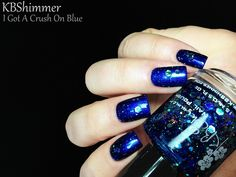 KBShimmer I Got A Crush On Blue (over Nicole by OPI What's The Mitch-uation)