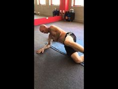 Supine Ipsilateral rolling to Right Abduction support. The skill is in being aware of the sensation of rolling through weight-bearing hip and shoulder. Dns, Physical Therapy, Kettlebell, Stability, At Home Workouts, Physics, Perspective, Exercises, Training
