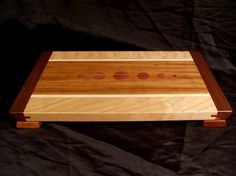 Jatoba and Cherry Cutting Board with Floating Top by DPcustoms
