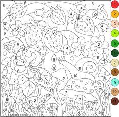 Раскраски по номерам, буквам, тематические (скачать) ~ Hungry Fox