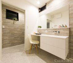 ホテルライクな雰囲気の造作洗面台