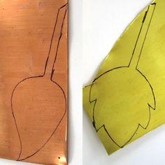 Copper Leaf Pendant Tutorial by Rena Klingenberg - Tutorial: foglia di rame e ottone patinato