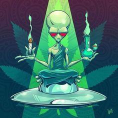 Get your Cannabis delivered right to your door with Buddrivers you can trust to get there within the hour. Express Cannabis Delivery - Your Buddrivers Arte Dope, Dope Art, Alien Drawings, Art Drawings, Alien Tattoo, Medical Marijuana, Stoner Art, Psychedelic Art