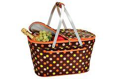 Collapsible Insulated Basket, Julia Dot on OneKingsLane.com