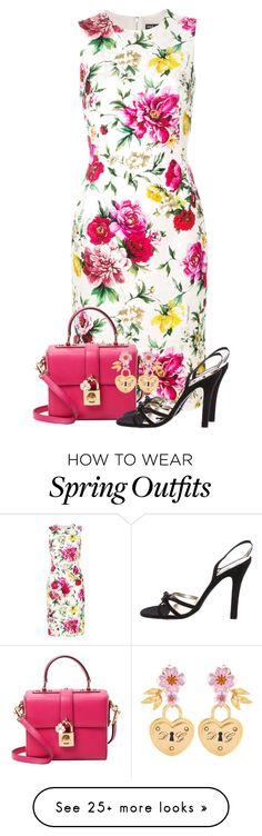 Designer Clothes, Shoes & Bags for Women Dress Outfits, Dresses, Striped Dress, Spring Outfits, Shoe Bag, Polyvore, How To Wear, Easter, Stuff To Buy