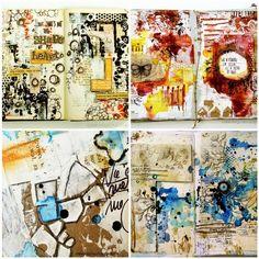 Czekoczyna / Kasia Krzyminska: art journal pages