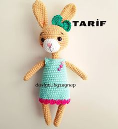 Leithygurumi: Amigurumi Narin Tavşan - Türkçe / Amigurumi Bunny with Dress English Pattern