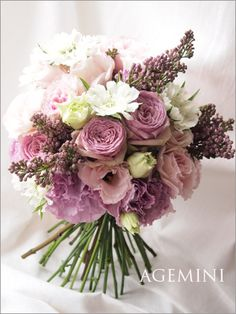Lilac and white bouquet Bridal Flowers, Flower Bouquet Wedding, Rose Bouquet, Floral Wedding, Beautiful Flower Arrangements, Wedding Flower Arrangements, Floral Arrangements, Beautiful Flowers, Deco Floral
