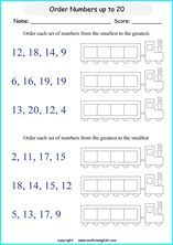 Maths homework ordering numbers
