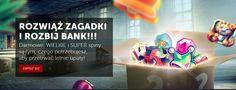 Rozwiąż zagadki i rozbij bank!!!    http://www.jednoreki-bandyta-online.com/kasyno-news-i-bonusy/rozwiaz-zagadki-i-rozbij-bank  #betsafe #jednorekibandyta #rozwiazzagadkiirozbijbank