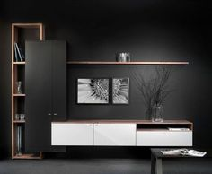 Modern Living Room Shelves - Our designers will design for you a design project for a stylish living room. Tv Cabinet Design, Tv Wall Design, House Design, Design Design, Tv Unit Decor, Tv Wall Decor, Tv Wanddekor, Modern Tv Wall Units, Tv Unit Furniture