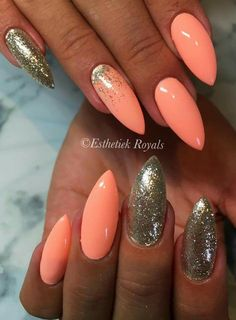 - Heute Pin # Nagel # Nagel Pink # Pink 5 practical ways to apply nail polish without errors Es ist fast eine Prüfun Perfect Nails, Gorgeous Nails, Pretty Nails, Orange Nails, Pink Nails, Hot Nails, Hair And Nails, Orange Nail Designs, Uñas Fashion