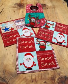 Santa's cookies placemat 4x4 5x5 6x6 in the hoop machine embroidery designs
