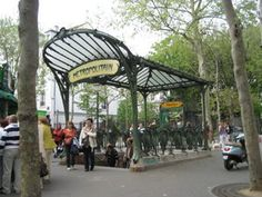 Paris Metro (subway) entrance   - Explore the World with Travel Nerd Nici, one Country at a Time. http://TravelNerdNici.com