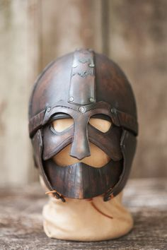 Leather Helmet of Gladiator/Spartacus by IronWoodsShop on Etsy