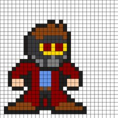 Star-Lord - Guardians of the Galaxy Perler Bead Pattern