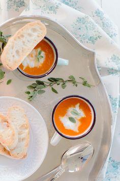 Sopa de tomate assado e mozzarella fresca... e um ligeiro caos by Suvelle Cuisine