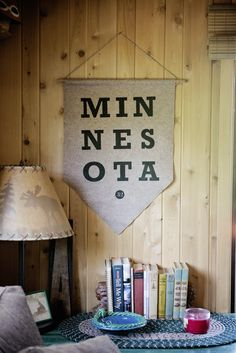 Give your cabin a little style with the NEW handmade vintage Minnesota pennant from sota clothing.
