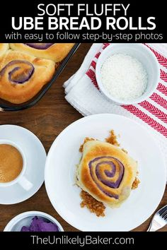 Ube bread rolls — soft and fluffy, packed with ube flavour, and it has pretty purple swirls. How can you say no to that? Get the recipe with step-by-step photos. #ubebread #ubebreadrolls #filipinofood Ube Bread Recipe, Filipino Bread Recipe, Filipino Food, Easy Egg Recipes, Brunch Recipes, Cookie Recipes, Brunch Ideas, American Desserts, Best Breakfast