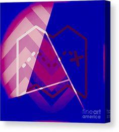 Modern Art Canvas Print featuring the digital art Geo Graph Two by Caroline Gilmore