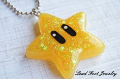 Star Resin Pendant by LeadFootJewelry on Etsy