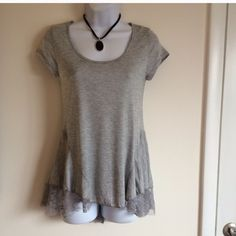 Brand new t shirt with lace detail. Firm unless bundled. Rue 21 Tops Blouses